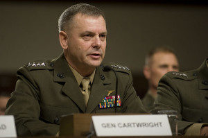 James Carwright testifies before the Senate; 2010 defense imagery photo.