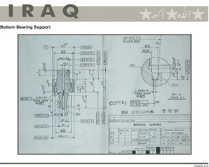 On June 26, 2003, CIA posted nuclear blueprints written in English on its website, claiming they were Iraqi.