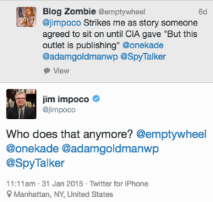 The CIA Convinces Another Outlet to Sit on a Big Scoop