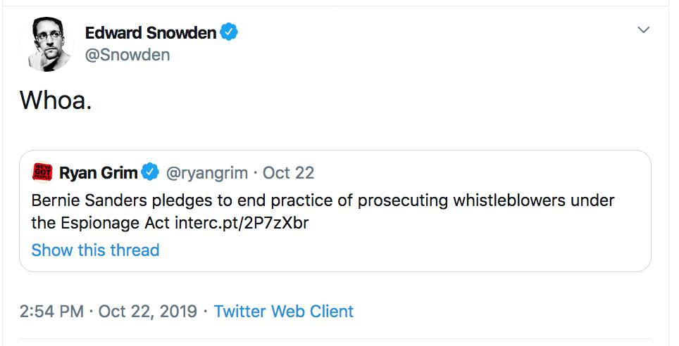 Snowden tweet whoa